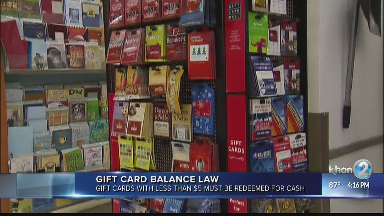 Best Gift Cards 2020 By 2020, gift cards with less than $5 can be redeemed   YouTube