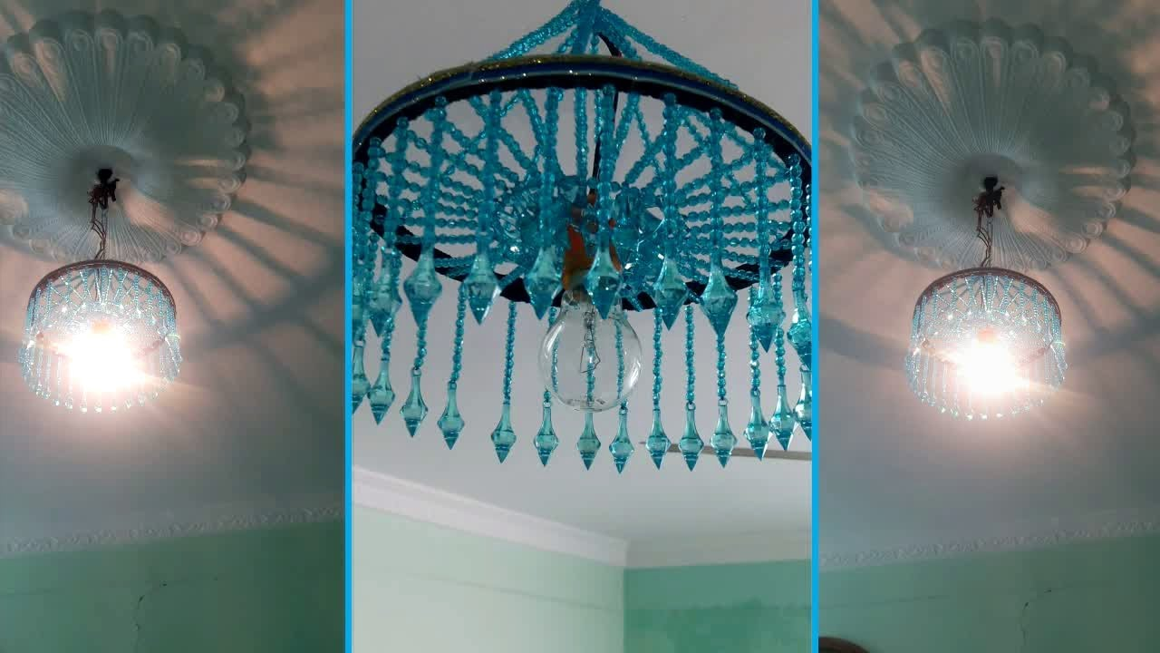How to make jhumarchandelier wall hanging decoration beaded how to make jhumarchandelier wall hanging decoration beaded chandelier home decorating ideas arubaitofo Image collections