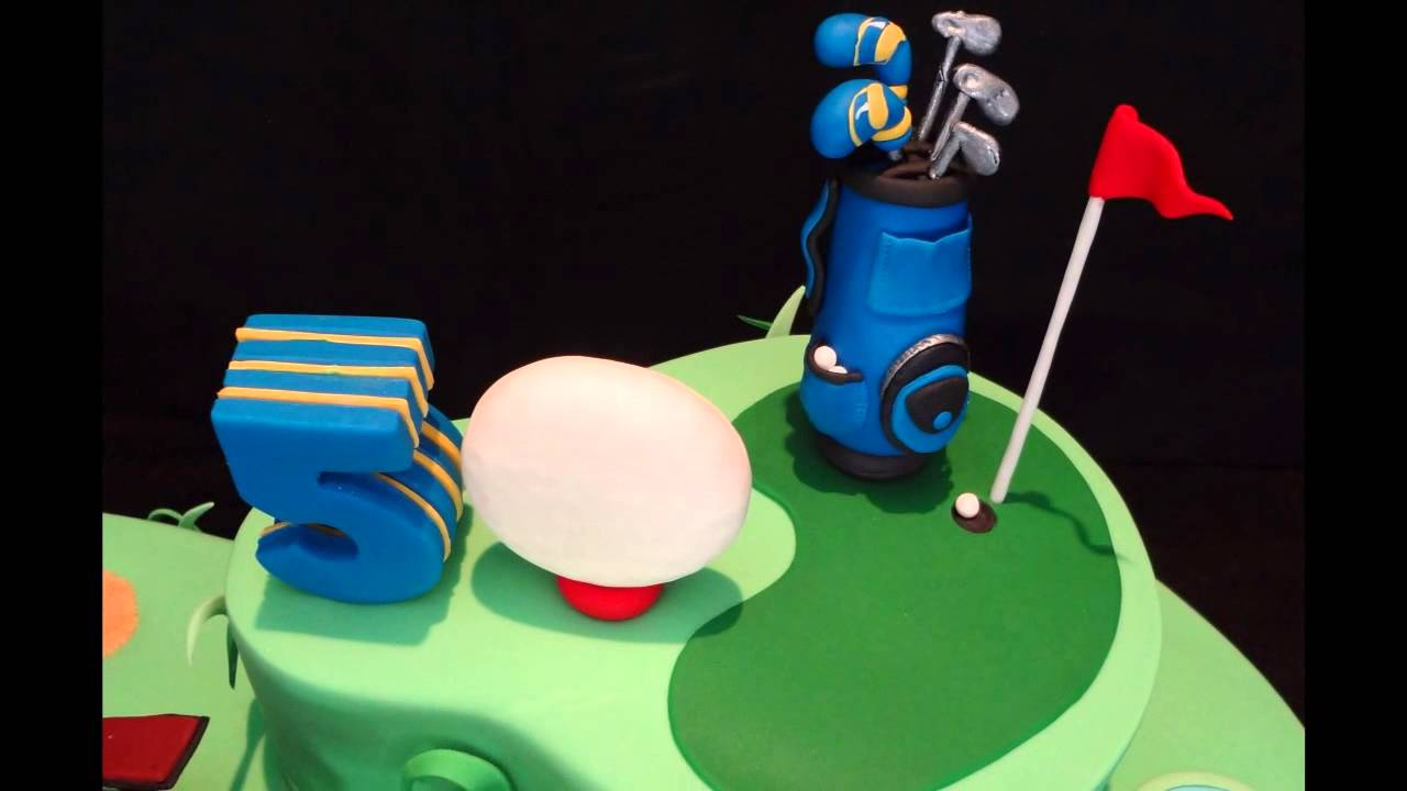 Snoozing on the Golf Course 50th Birthday Cake YouTube