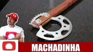 DIY Motorcycle sprocket hatchet (eng-sub)