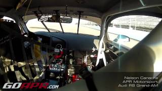 Nelson Canache behind the wheel of the APR R8 Grand-AM during practice