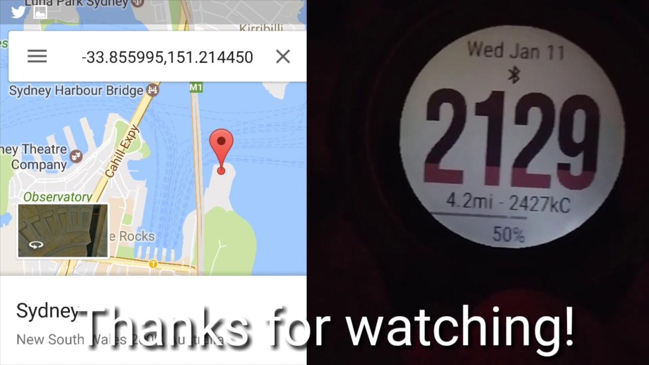 Garmin Fenix 3 : Maps Widget