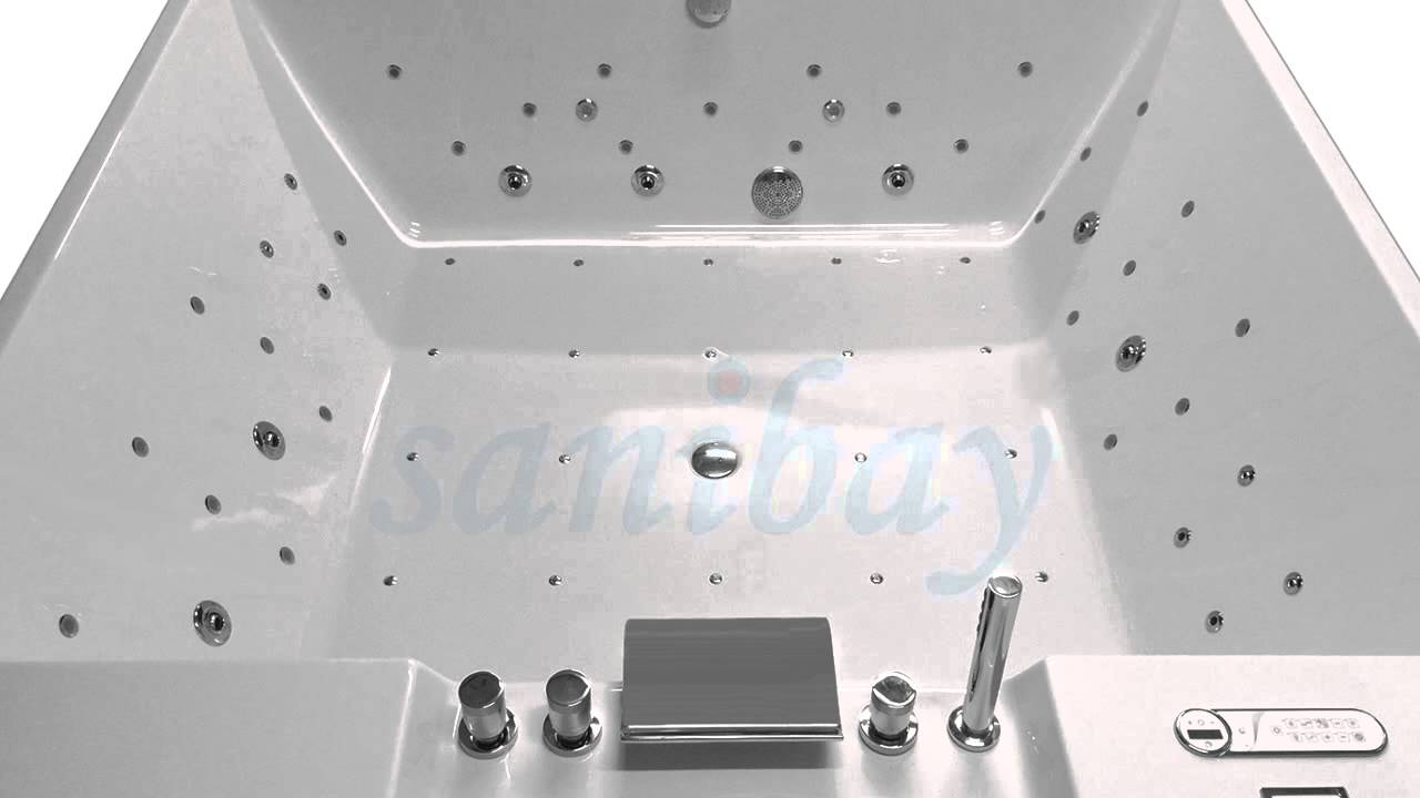 Indoor whirlpool 4 personen  Whirlpool für 4 Personen von Sanibay (Made in Germany) - YouTube
