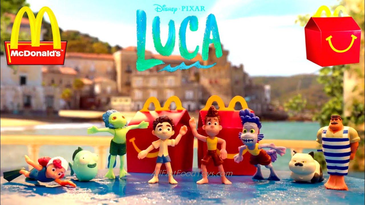 2021 DISNEY PIXAR LUCA McDONALD'S HAPPY MEAL TOYS COMMERCIAL REVIEW CAJITA FELIZ MEXICO BRAZIL