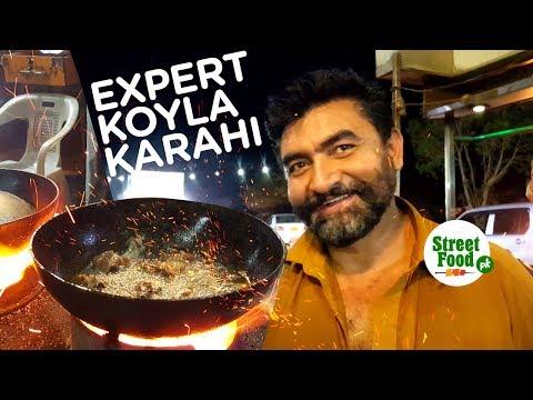 Expert Koyla Karhai   Street Food Karachi   Travel Pakistan