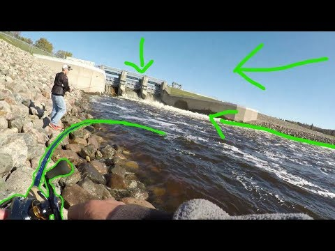 This GIANT Spillway Was FULL Of Muskies!!!!
