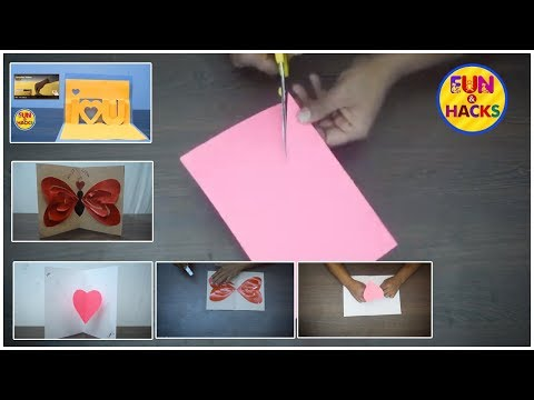 DIY Heart (Love) Pop up Greeting Cards | DIY Paper Crafts - Handmade & Homemade | Fun & Crafts