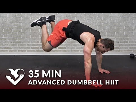 35 Min Advanced Dumbbell HIIT Workout Hard High Intensity Workouts at Home for Women & Men