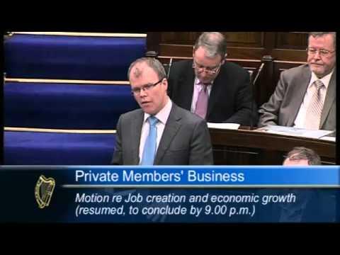 Peadar Tóibín TD speaking on job creation and economic growth