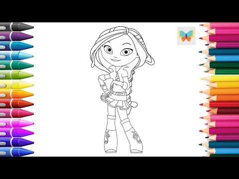 Раскраска мультфильм сказочный патруль