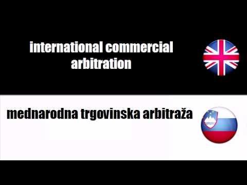 ENGLISH SLOVENIAN   commercial arbitration