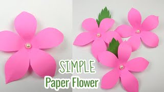 How To Make Paper Flowers | Simple Paper Flowers - Kertas Ori