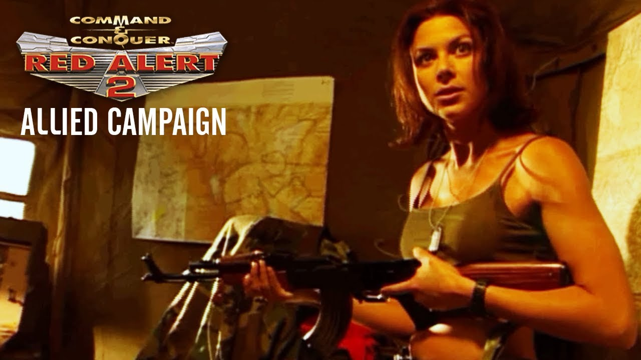 Command and Conquer: Red Alert 2 Allied Campaign All Cutscenes (Game Movie) 1080p HD
