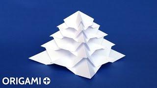 Easy Origami 3D Christmas Tree (Stéphane Gigandet)
