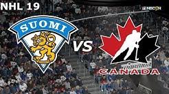 NHL 19 MM ottelu Suomi-Kanada