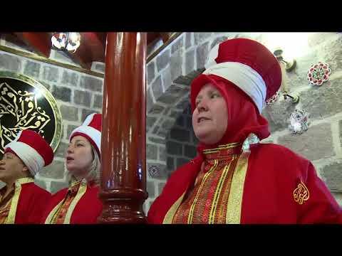 فرقة موسيقية عسكرية عثمانية للمناسبات الدينية من النساء  - 11:21-2018 / 6 / 12