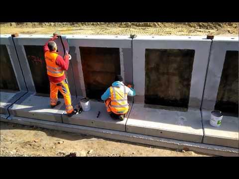 Waterproofing dilatation joints on pre cast concrete elements