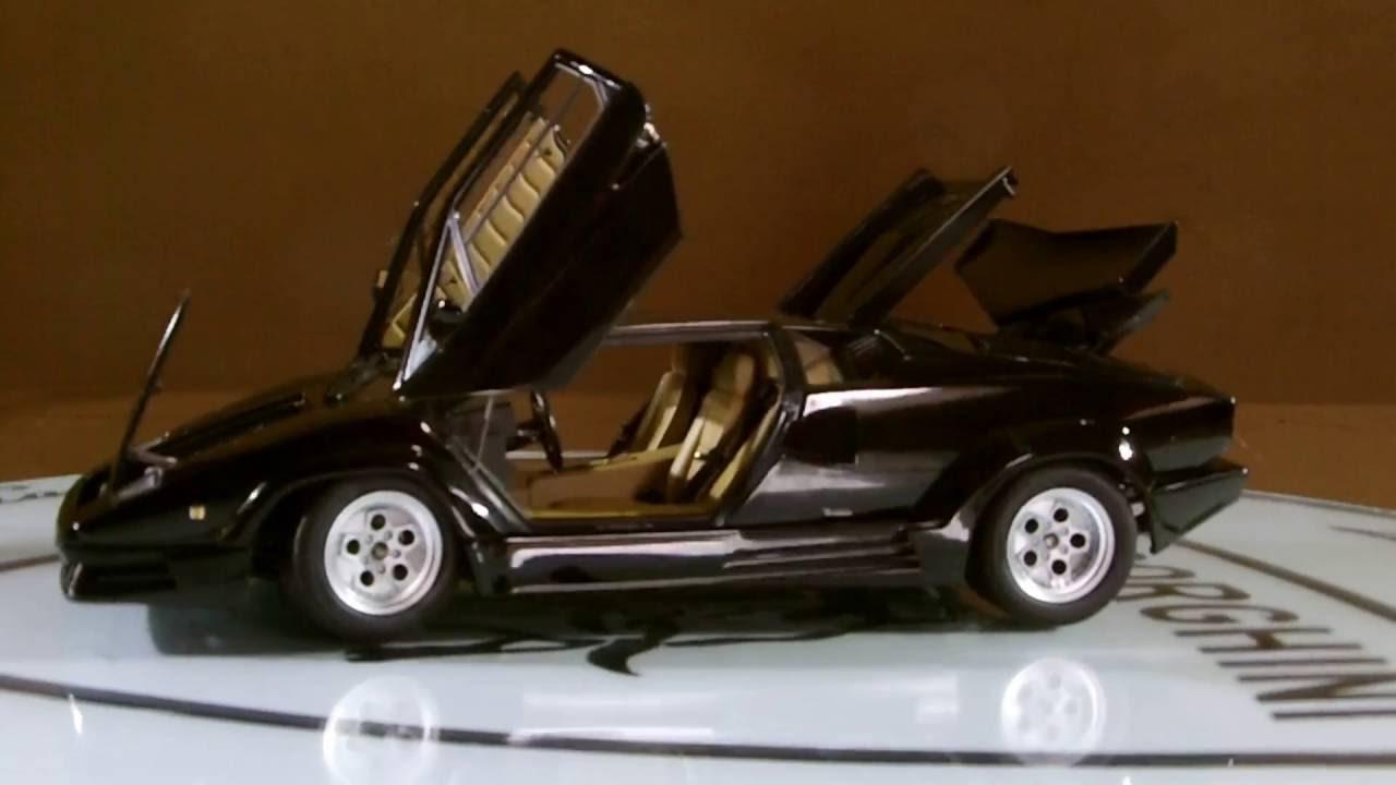 Autoart Lamborghini Countach 25th Anniversary 1988 Black 1