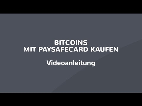 Bitcoin Mit Paysafe