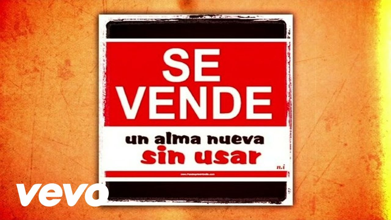 Alejandro Sanz Se Vende Audio Youtube