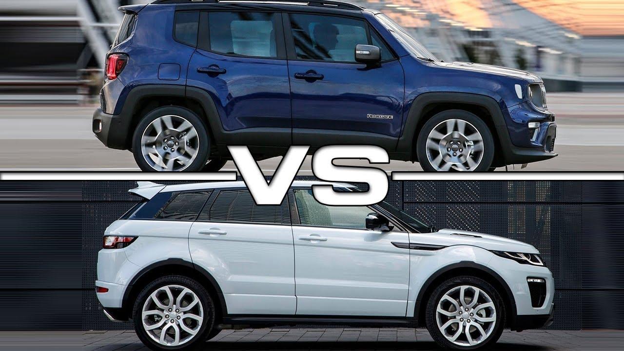 2019 Jeep Renegade Vs 2018 Land Rover Evoque Technical