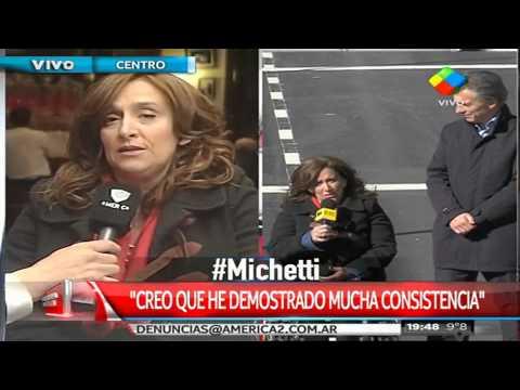 Michetti: La gente me pidió que acompañara a Macri