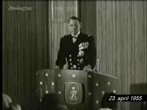 Kong Frederik IX indvier Det Danske Hus i Paris den 23. april 1955