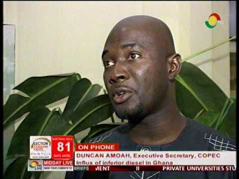 COPEC Duncan Amoah responds to influx of inferior diesel in Ghana -16/9/2016