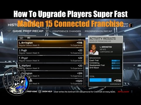 Player Upgrade GLITCH In Madden 15 Franchise Mode! | Madden Connected Franchise Tutorial