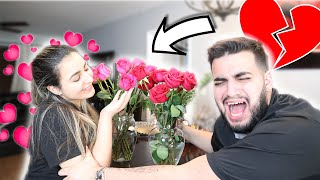 Another Guy Bought Me Flowers Prank On Boyfriend!