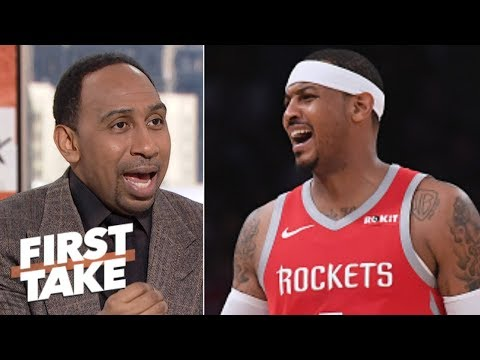 Stephen A.: Carmelo can't adjust to his role with the Rockets | First Take
