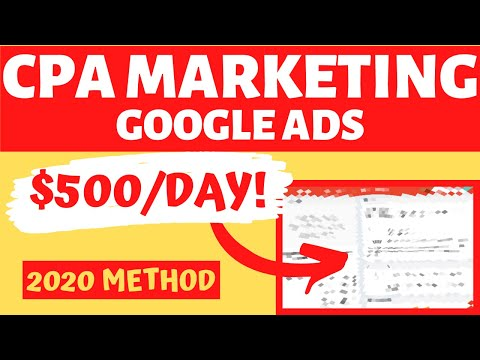 CPA Marketing + Google Ads 2020 [MaxBounty Step By Step Campaign Setup For Beginners]