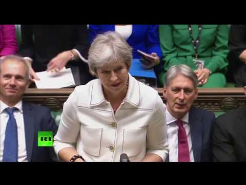 : Theresa May gives a statement on Brexit to MPs in House of Commons