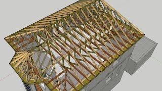 Стропильная система вальмовой крыши - схема и расчет на видео, цена материалов