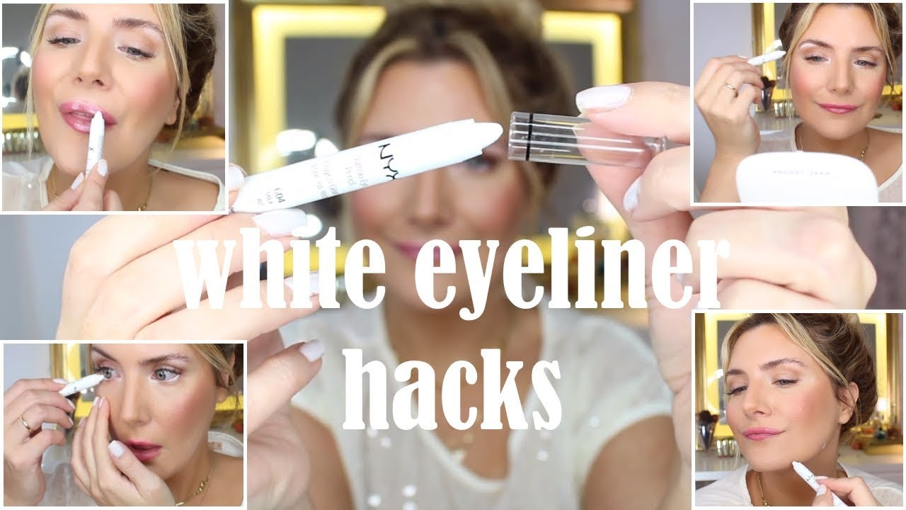 WHITE EYELINER HACKS YOU NEED TO KNOW ( 12 TRICKS IN UNDER 12 MINS)
