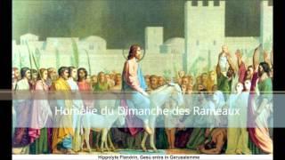 Homélie du père Michel Gitton pour le Dimanche des Rameaux - 20 mars 2016