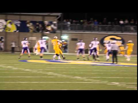 Pioneer @ Saline Football- District:  Pihi 3rd and long completion