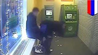 Русская парочка занялась сексом в банкомате