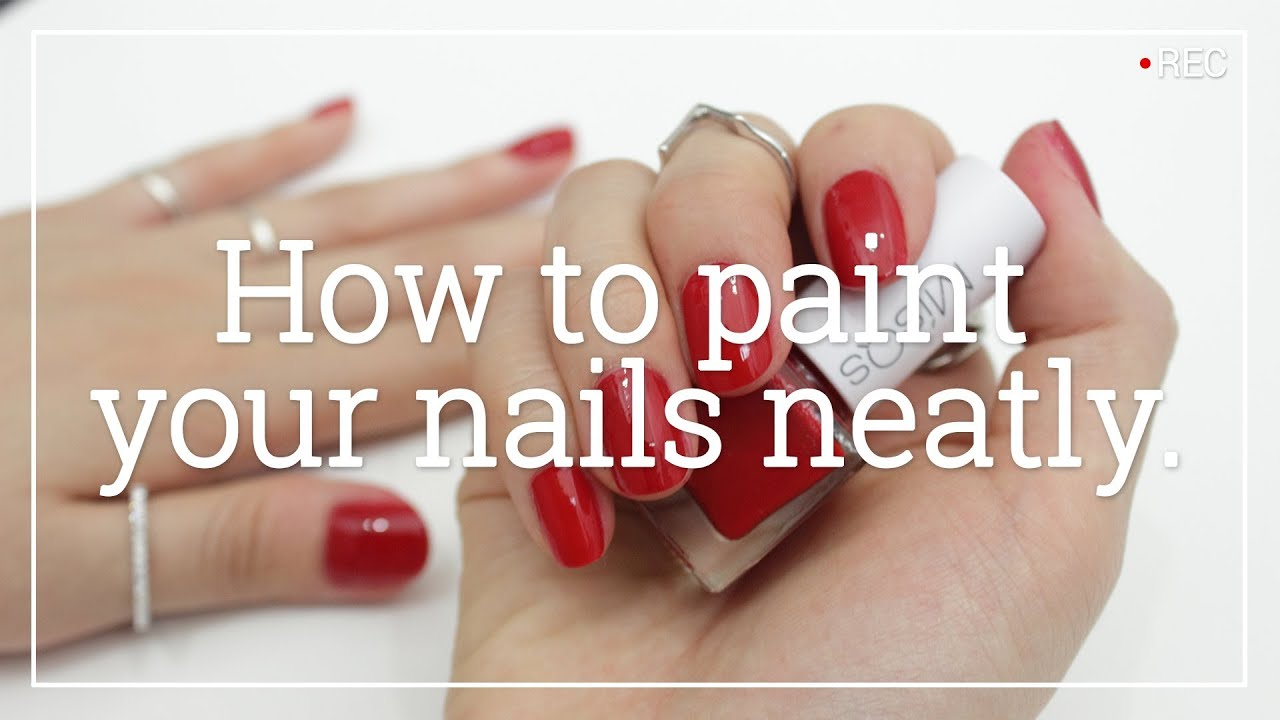 How to Paint Your Nails Neatly | Wishtrend - YouTube