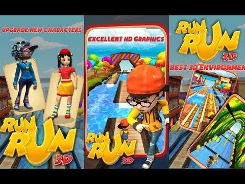 RUN RUN 3D - Android HD Game play Trailer
