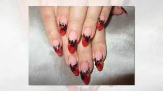 Дизайн Ногтей Акриловыми Красками Пошагово. Аклировые ногти.