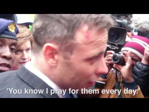 'I pray for them every day' - Oscar responds during huge media scrum