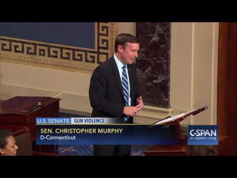 Sen. Chris Murphy speaks to his son during Gun Violence Filibuster (C-SPAN)