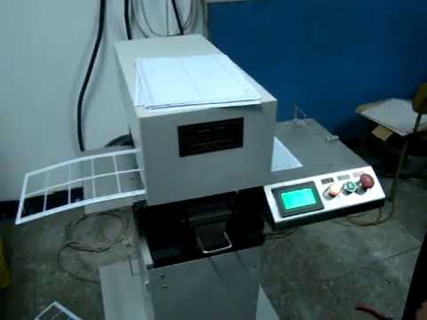 YCK-2AE A4 plastic PVC card die punch machine (old video)