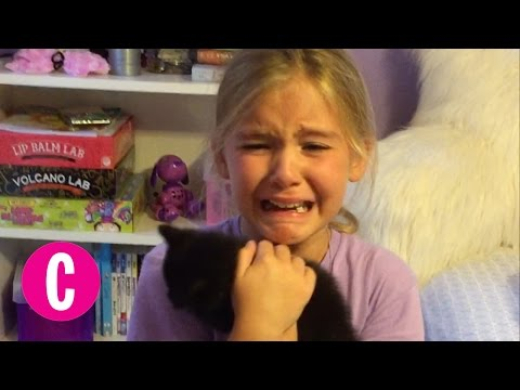 Little Girl is Surprised With a Brand New Kitten | Cosmopolitan