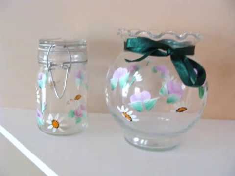 Hand Painted Home Decor Glass Items