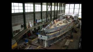 Zeitrafferfilm Bau Panorama Yacht Saphir