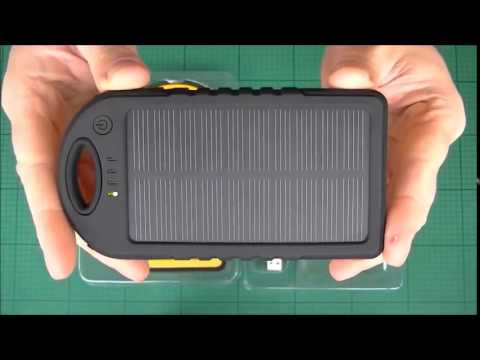 Solar Charger 5000mah 12000mah Dual Usb Rain Resistant Dust Proof Solar Power Bank Youtube