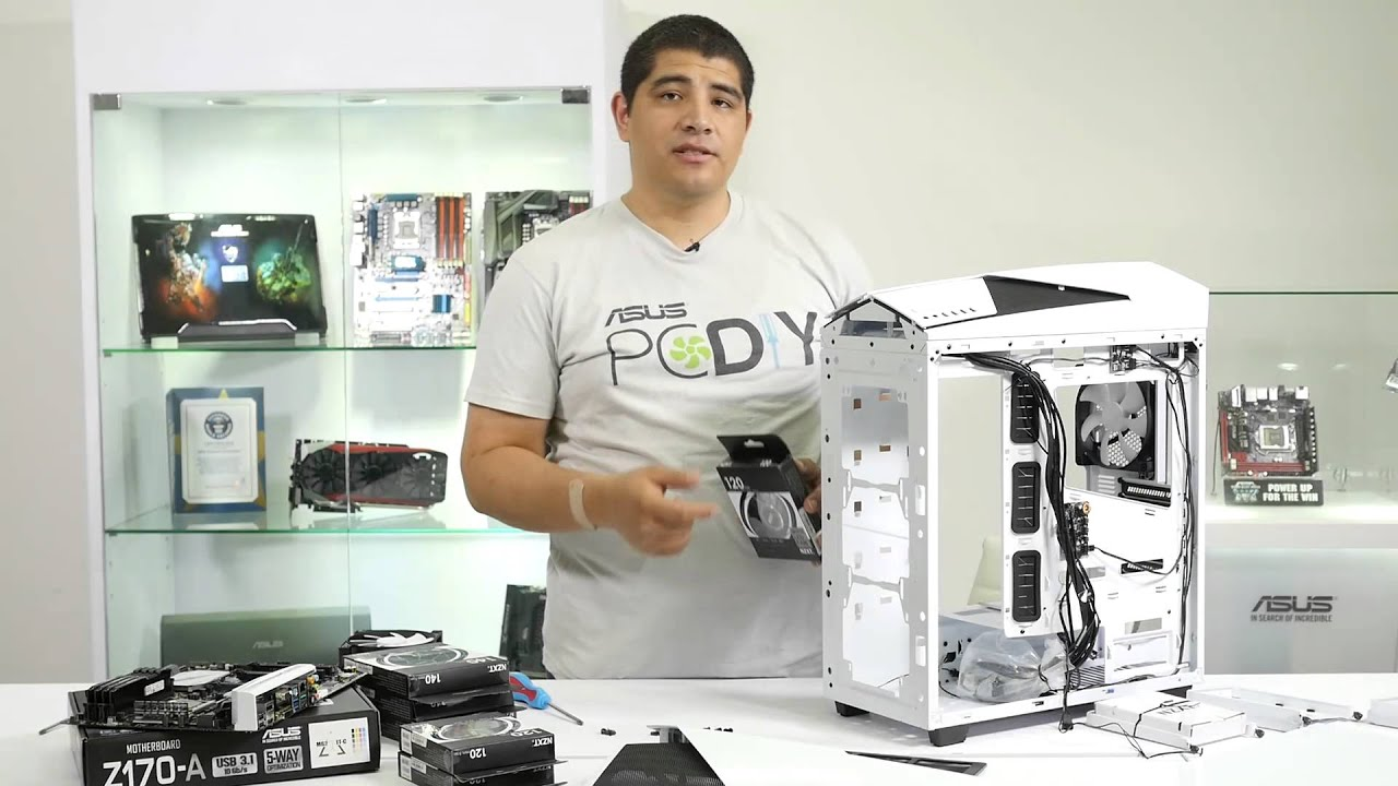 How To Build A Z170 Gaming Pc From Start Finish Featuring Asus Case Fan Wiring Diagram