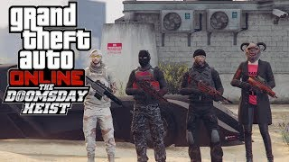GTA Online The Doomsday Heist ACT 1 - The Data Breaches | Speed Run Console World Record (3:23)